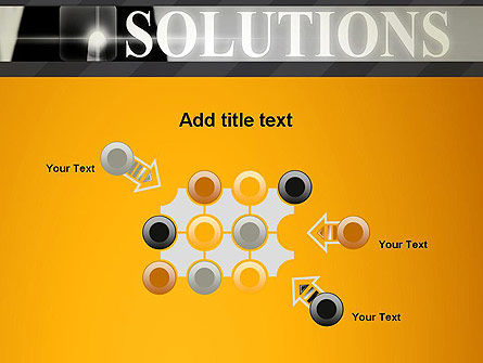 Press The Solution Key PowerPoint Template Slide 10