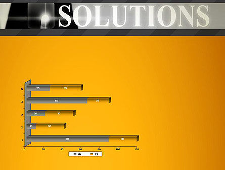 Press The Solution Key PowerPoint Template Slide 11