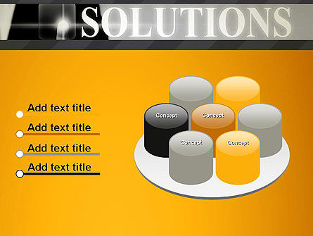 Press The Solution Key PowerPoint Template Slide 12