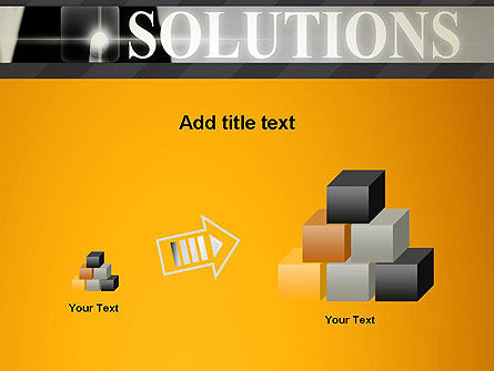 Press The Solution Key PowerPoint Template Slide 13