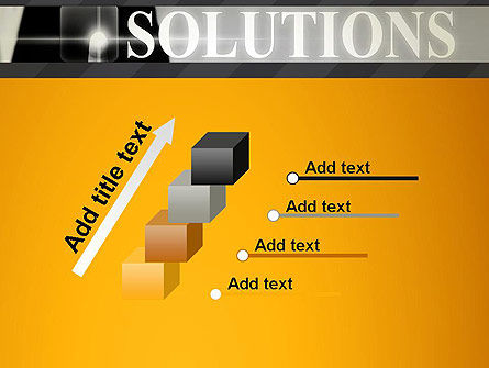 Press The Solution Key PowerPoint Template Slide 14