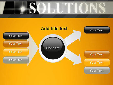 Press The Solution Key PowerPoint Template Slide 15