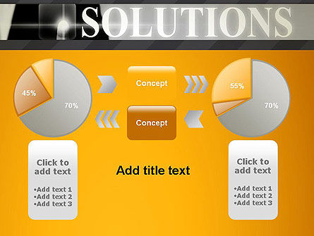 Press The Solution Key PowerPoint Template Slide 16