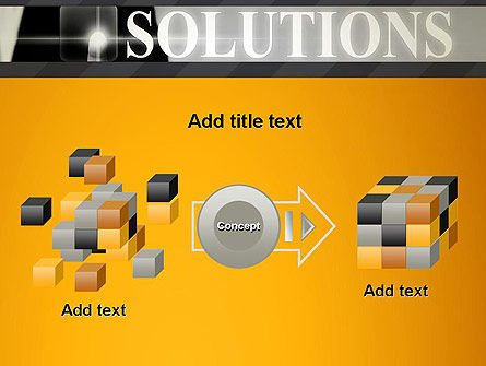 Press The Solution Key PowerPoint Template Slide 17