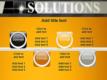 Press The Solution Key PowerPoint Template Slide 18