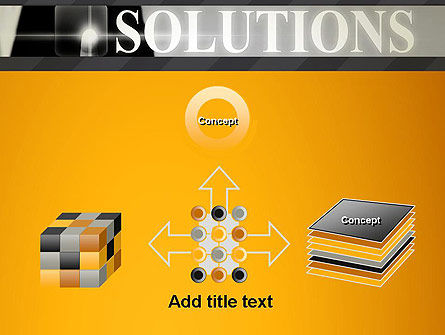 Press The Solution Key PowerPoint Template Slide 19
