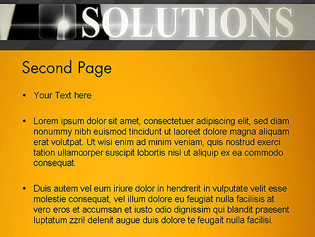 Press The Solution Key PowerPoint Template Slide 2