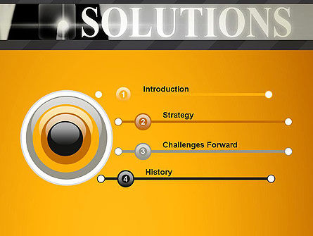 Press The Solution Key PowerPoint Template Slide 3