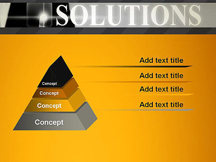 Press The Solution Key PowerPoint Template Slide 4