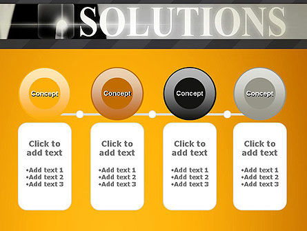 Press The Solution Key PowerPoint Template Slide 5