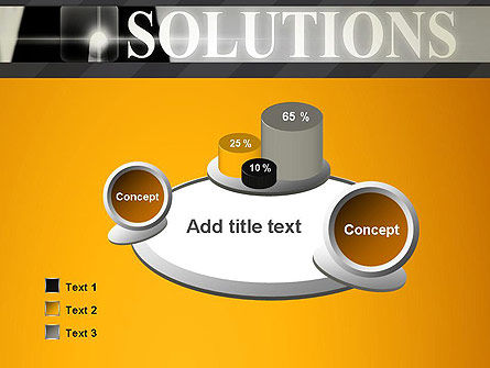 Press The Solution Key PowerPoint Template Slide 6