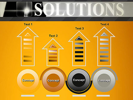 Press The Solution Key PowerPoint Template Slide 7