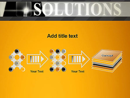 Press The Solution Key PowerPoint Template Slide 9