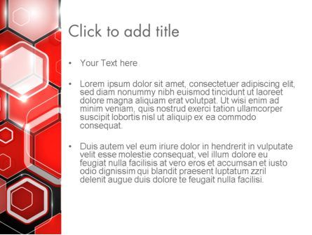 Red Hexagons Abstract PowerPoint Templat, Slide 3, 13908, Abstract/Textures — PoweredTemplate.com