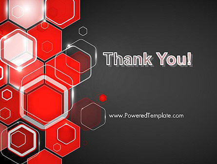 Red Hexagons Abstract PowerPoint Templat Slide 20