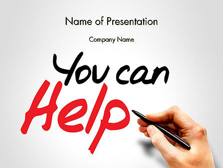 Religious/Spiritual: You Can Help PowerPoint Template #13909