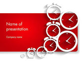 Business Concepts: Clock Faces PowerPoint Template #13911