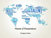 Careers/Industry: Recruiting Word Cloud PowerPoint Template #13913