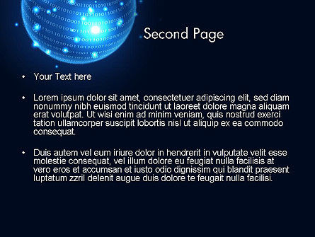 Digital Glowing Globe Abstract PowerPoint Template, Slide 2, 13914, Technology and Science — PoweredTemplate.com