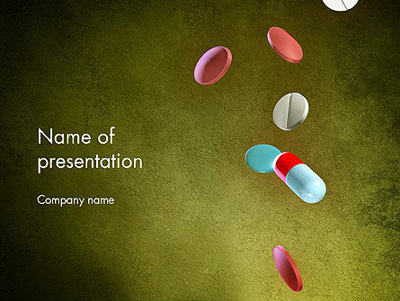 Falling Drugs PowerPoint Template, 13915, Medical — PoweredTemplate.com