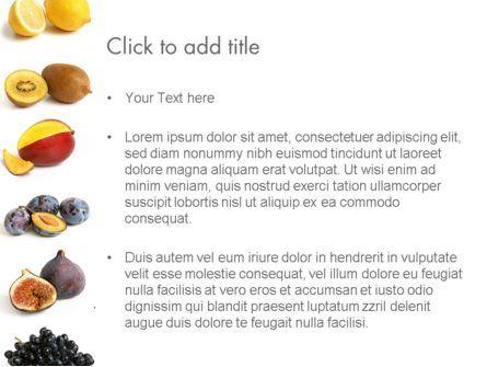 Fruit Mix PowerPoint Template, Slide 3, 13917, Food & Beverage — PoweredTemplate.com