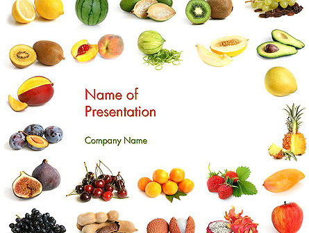 Food & Beverage: Fruit Mix PowerPoint Template #13917