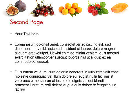 Fruit Mix PowerPoint Template Slide 2