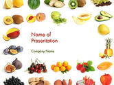 Food & Beverage: Templat PowerPoint Campuran Buah #13917