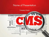 Technology and Science: CMS Word Cloud PowerPoint Template #13919