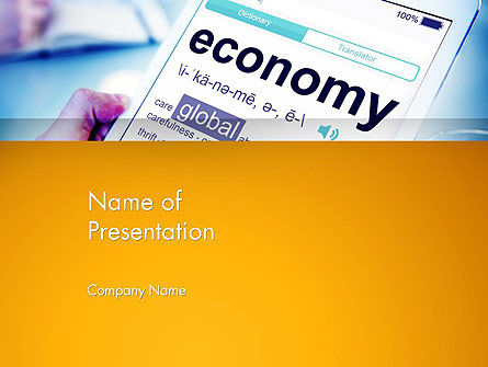 Economy Definition on Touch Pad PowerPoint Template, 13920, Financial/Accounting — PoweredTemplate.com