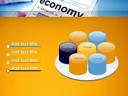 Economy Definition on Touch Pad PowerPoint Template Slide 12