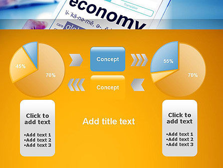 Economy Definition on Touch Pad PowerPoint Template Slide 16