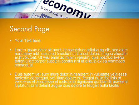 Economy Definition on Touch Pad PowerPoint Template, Slide 2, 13920, Financial/Accounting — PoweredTemplate.com