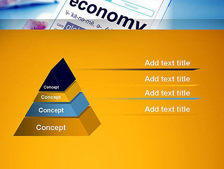 Economy Definition on Touch Pad PowerPoint Template, Slide 4, 13920, Financial/Accounting — PoweredTemplate.com