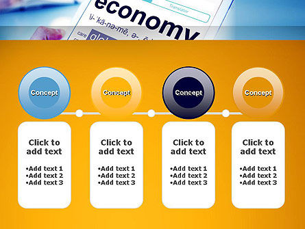 Economy Definition on Touch Pad PowerPoint Template Slide 5