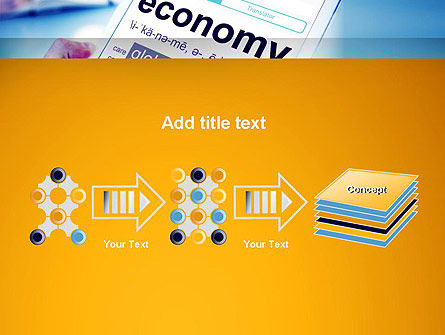 Economy Definition on Touch Pad PowerPoint Template Slide 9