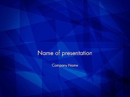 Intersecting Triangle Shapes Abstract PowerPoint Template