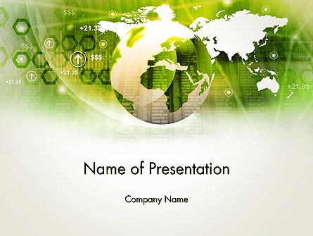 Business: Abstract World Business PowerPoint Template #13922
