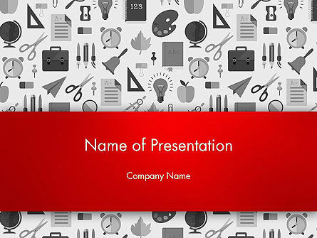 Seamless School Pattern PowerPoint Template, 13925, Education & Training — PoweredTemplate.com
