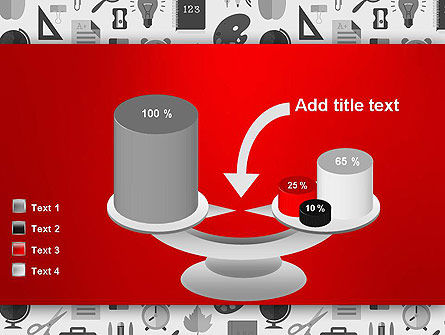 Seamless School Pattern PowerPoint Template Slide 10