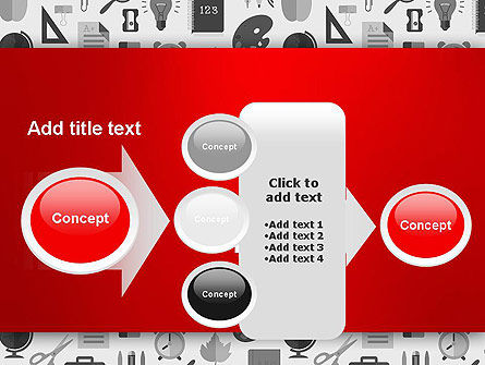 Seamless School Pattern PowerPoint Template Slide 17