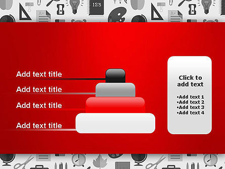 Seamless School Pattern PowerPoint Template Slide 8