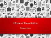 Education & Training: Seamless School Pattern PowerPoint Template #13925