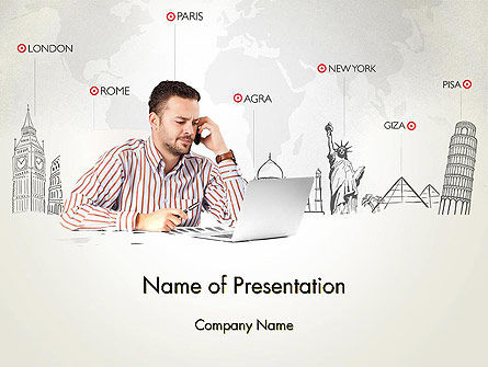 Travel Destinations PowerPoint Template, 13926, Careers/Industry — PoweredTemplate.com