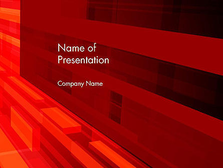 Red Tendency Abstract PowerPoint Template