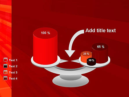 Red Tendency Abstract PowerPoint Template Slide 10