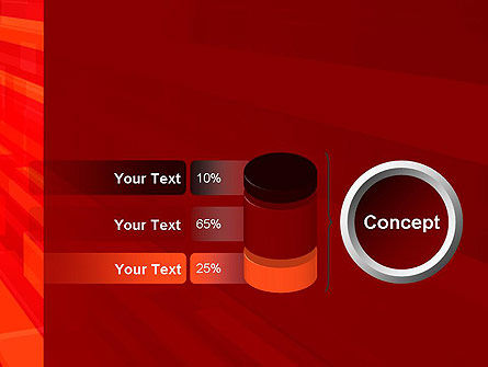 Red Tendency Abstract PowerPoint Template Slide 11