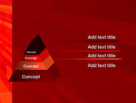 Red Tendency Abstract PowerPoint Template Slide 12