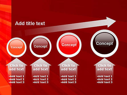 Red Tendency Abstract PowerPoint Template Slide 13