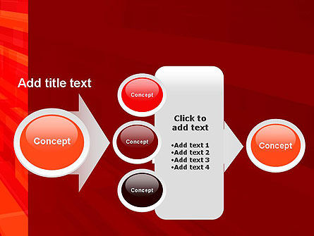 Red Tendency Abstract PowerPoint Template Slide 17